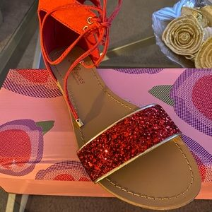 Shoes - Red summer sandals